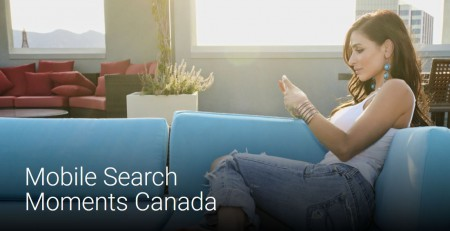 image of cover of a report on how Canadian are using mobile to search